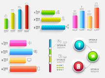 3d chart diagram business presentation. Realistic vector illustration design concept. Set of Infographic symbols Stock Image