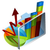 3d Chart Folder Stock Image