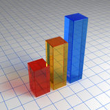 3d chart from glass on the sheet Royalty Free Stock Photo