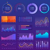 3D chart and graphic. Diagram with options and workflow charts. Business diagram data finance, infographic analysis. Tools vector illustration. Vector data Royalty Free Stock Image