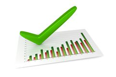 3D Chart - Success. Chart - 12 Months - Success (3D, isolated, white background Stock Image