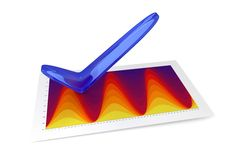 3D Chart - Temperature. Chart - Temperature - OK (3D, isolated, white background Stock Photography