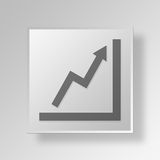 3D charts icon Business Concept. 3D Symbol Gray Square charts icon Business Concept vector illustration