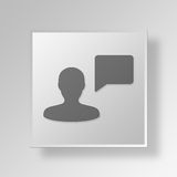 3D chat bubble icon Business Concept Royalty Free Stock Image