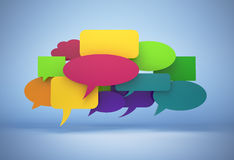 3D speech bubbles  with clipping path Stock Images