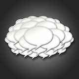 3d Chat Bubbles Storm Cloud on Black Background Royalty Free Stock Photo