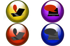 3d chat icon Stock Image