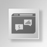 3D Chat Web Browser icon Business Concept. 3D Symbol Gray Square Chat Web Browser icon Business Concept Stock Images