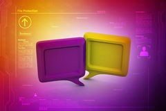 3d chatting bubble Royalty Free Stock Photography