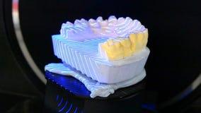 3D che esplora un modello del primo piano umano dei denti video d archivio