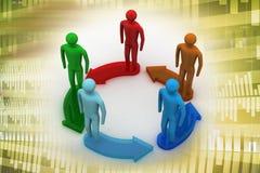 3d che modella la gente collegata Immagine Stock