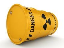 3D che rende barilotto radioattivo giallo illustrazione vettoriale