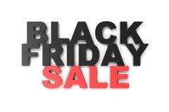 3D che rende Black Friday, messaggio di vendita per il negozio Insegna del deposito di luppolizzazione di affari per Black Friday Immagine Stock Libera da Diritti