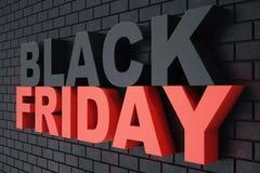 3D che rende Black Friday, messaggio di vendita per il negozio Insegna del deposito di luppolizzazione di affari per Black Friday Immagini Stock Libere da Diritti