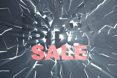 3D che rende Black Friday, messaggio di vendita per il negozio Insegna del deposito di luppolizzazione di affari per Black Friday Fotografia Stock Libera da Diritti