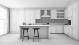 Cucina classica bianca foto stock - Iscriviti Gratis