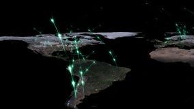 3D che rende estratto della rete del mondo, di Internet e del concetto globale del collegamento Elementi di questa immagine ammob Fotografia Stock Libera da Diritti