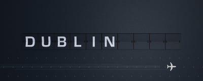 3D che rende Flip Board Capital Dublino Immagine Stock