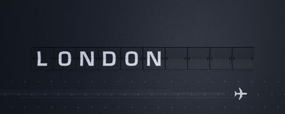 3D che rende Flip Board Capital Londra Fotografia Stock