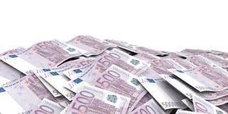 3d che rende fondo di 500 un euro banconote illustrazione vettoriale