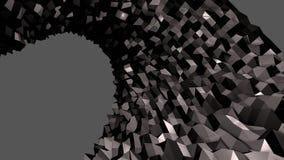 3d che rende fondo geometrico astratto con i colori moderni di pendenza nel poli stile basso superficie 3d con colore nero 2 Illustrazione di Stock