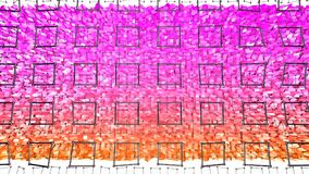 3d che rende fondo geometrico astratto con i colori moderni di pendenza nel poli stile basso superficie 3d con l'arancia rossa Illustrazione Vettoriale