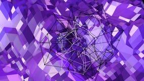 3d che rende fondo geometrico astratto con i colori moderni di pendenza nel poli stile basso superficie 3d con la pendenza 2 Illustrazione Vettoriale
