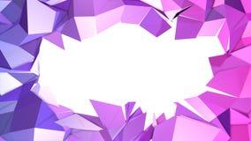 3d che rende fondo geometrico astratto con i colori moderni di pendenza nel poli stile basso superficie 3d con la copia di penden Illustrazione di Stock