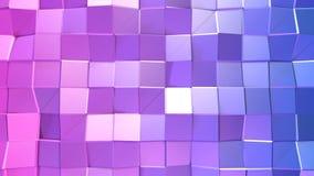 3d che rende fondo geometrico astratto con i colori moderni di pendenza nel poli stile basso superficie 3d con rosso blu Illustrazione di Stock