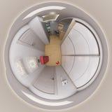 3d che rende 360 gradi, corridoio senza cuciture di panorama Fotografia Stock Libera da Diritti