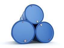 3D che rende il blu barrels Viagra Fotografia Stock Libera da Diritti