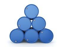 3D che rende il blu barrels Viagra Fotografia Stock