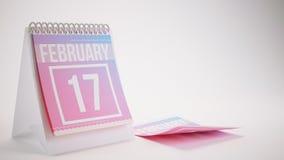3D che rende il calendario d'avanguardia di colori su fondo bianco Immagini Stock