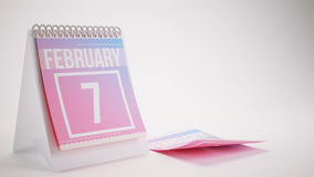 3D che rende il calendario d'avanguardia di colori su fondo bianco Immagine Stock