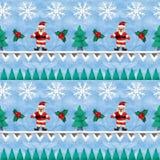 3D che rende il confine senza cuciture del jacquard d'annata scandinavo di Natale illustrazione vettoriale