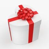 3D che rende il cuore della scatola bianca Fotografie Stock
