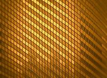 3d che rende il fondo dorato del mosaico di lustro di lusso astratto Fotografia Stock