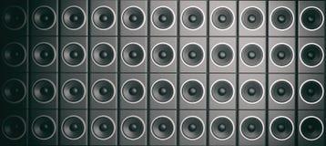 3d che rende l'audio altoparlante inscatola il fondo Immagini Stock