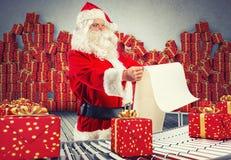 3D che rende la fabbrica del Babbo Natale Fotografie Stock Libere da Diritti