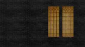 3d che rende la parete con la finestra e la luce dalla finestra Fotografia Stock