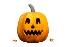 3D che rende la zucca di Halloween su bianco Fotografie Stock Libere da Diritti