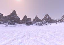 3D che rende Misty Mountains Immagine Stock Libera da Diritti