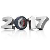 3D che rende nuovo anno 2017 Fotografie Stock
