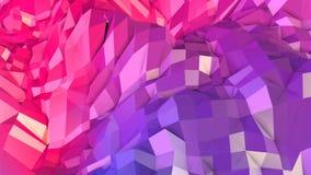 3d che rende poli fondo geometrico astratto basso con i colori moderni di pendenza superficie 3d come terreno del fumetto con il  Immagini Stock Libere da Diritti