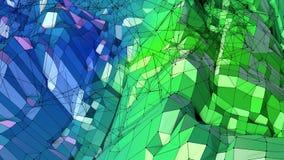 3d che rende poli fondo geometrico astratto basso con i colori moderni di pendenza superficie 3d come terreno del fumetto con il  Fotografie Stock Libere da Diritti