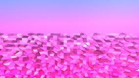 3d che rende poli fondo geometrico astratto basso con i colori moderni di pendenza superficie 3d come terreno con lo spazio della Fotografia Stock