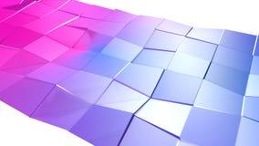 3d che rende poli fondo geometrico astratto basso con i colori moderni di pendenza superficie 3D V1 Fotografie Stock