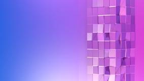 3d che rende poli fondo geometrico astratto basso con i colori moderni di pendenza superficie 3D V5 Immagini Stock Libere da Diritti