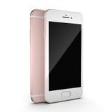 3D che rende Smart Phone rosa con lo schermo nero Immagine Stock Libera da Diritti
