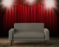 3d che rende sofà grigio Immagini Stock